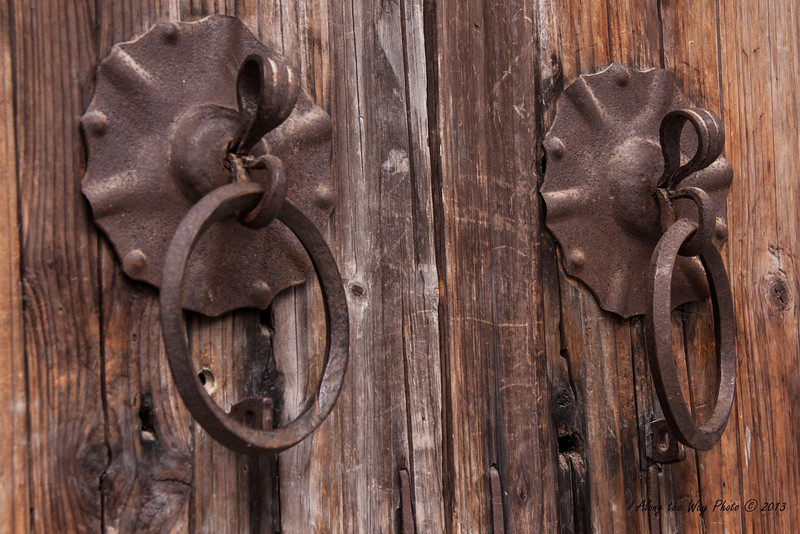 China-3529<br /> Door handles to house in Xidi Village.