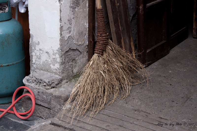 China-3334<br /> Broom made from brush, commonly used in both the rural and urban areas of China.