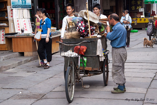 China-3330<br /> Those that could not afford motorized vehicles would use the three wheeled bicycles.