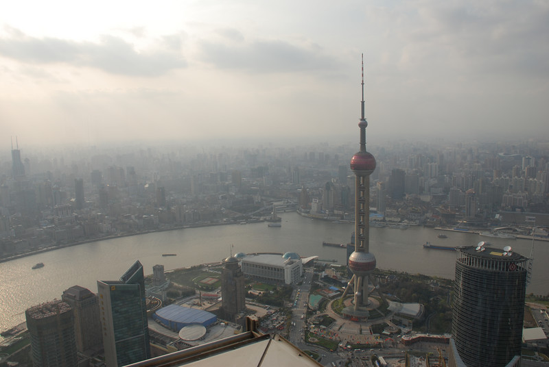 View from the Jin Mao Tower observation deck