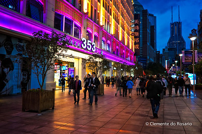 Nanjing Road,3.4 mile long Shopping Street, Shanghai,  China