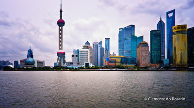 Shanghai's Pudong Skyline from the Bund, China