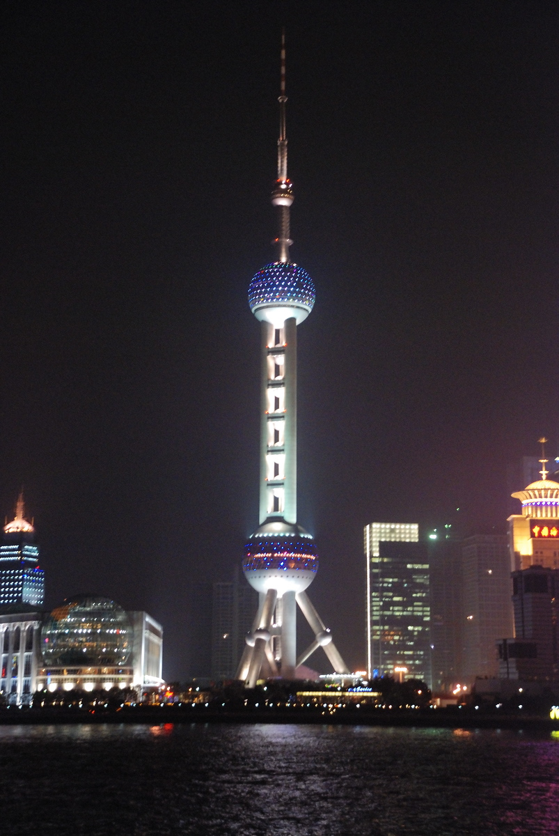 Across the river to the Oriental Pearl Tower