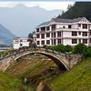 The Santie Bridge in Xiangyan Town, Pingwu County, Mianyang City, Sichuan Province