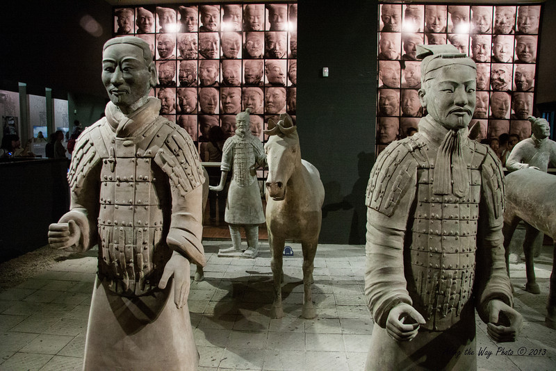 China-1927<br /> Terra Cotta Warriors are displayed in the Shaanxi provincial History Museum in Xian, China.