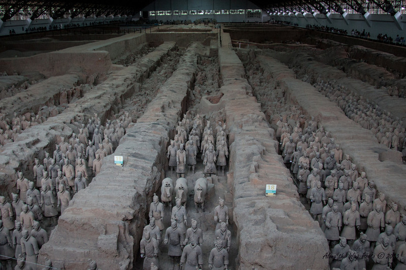 China-2049<br /> Pit #1 contains the main army with over 6,000 warriors in addition to horses in it. The army was in formation with life size figures that vary in height, uniform and hair style in accordance to rank.