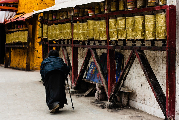 Not even old age will keep dedicated Buddhists from walking the kora with the hope of earning merit in the next life.