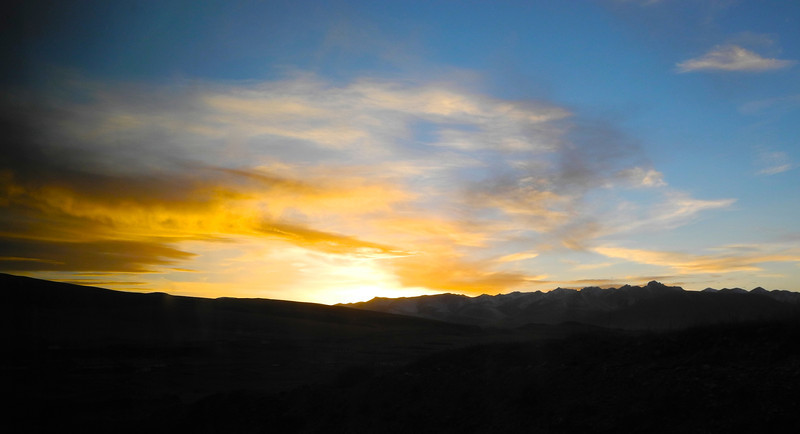 Spectacular sunsets at 12,000 ft