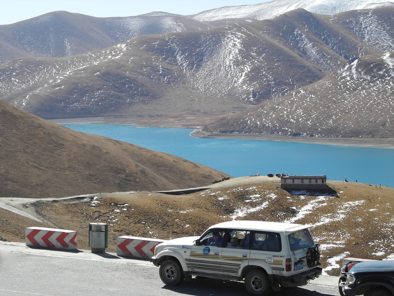 Our Land Cruiser at the summit lookout