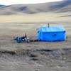 Typical open plains housing in Tibet Highlands