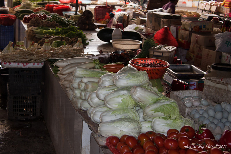 China-2609<br /> Open Market in Guilin area, China.