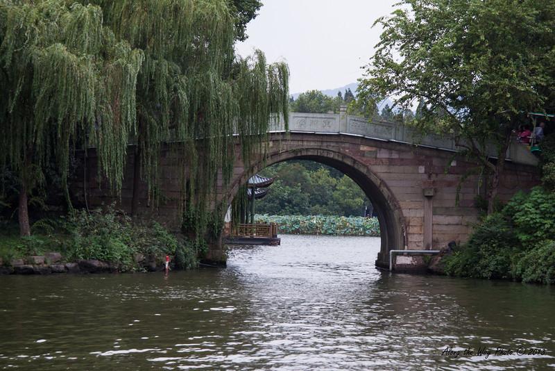 China-002-20<br /> Bridge on West Lake in Hangzhou, China