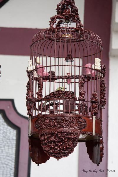 China-3842<br /> Bird Cage on Bird Street at the Bird Market in Hong Kong, China.