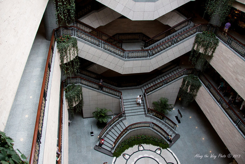 China-2770<br /> Stairways leading to the upper levels of the Shanghai Museum.