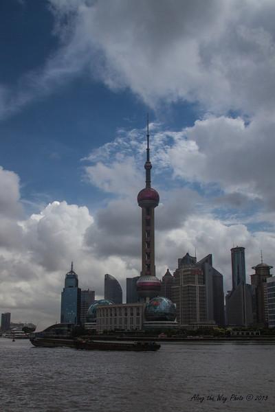 China-2730<br /> Shanghai Skyline across the river.