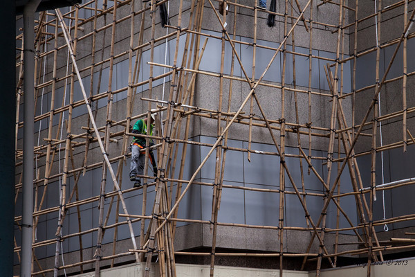 China-3958<br /> Scaffolding in China is made from Bamboo.