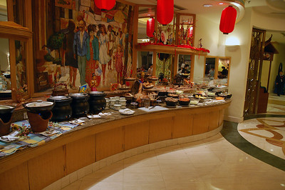 One part of the buffet at ShangriLa