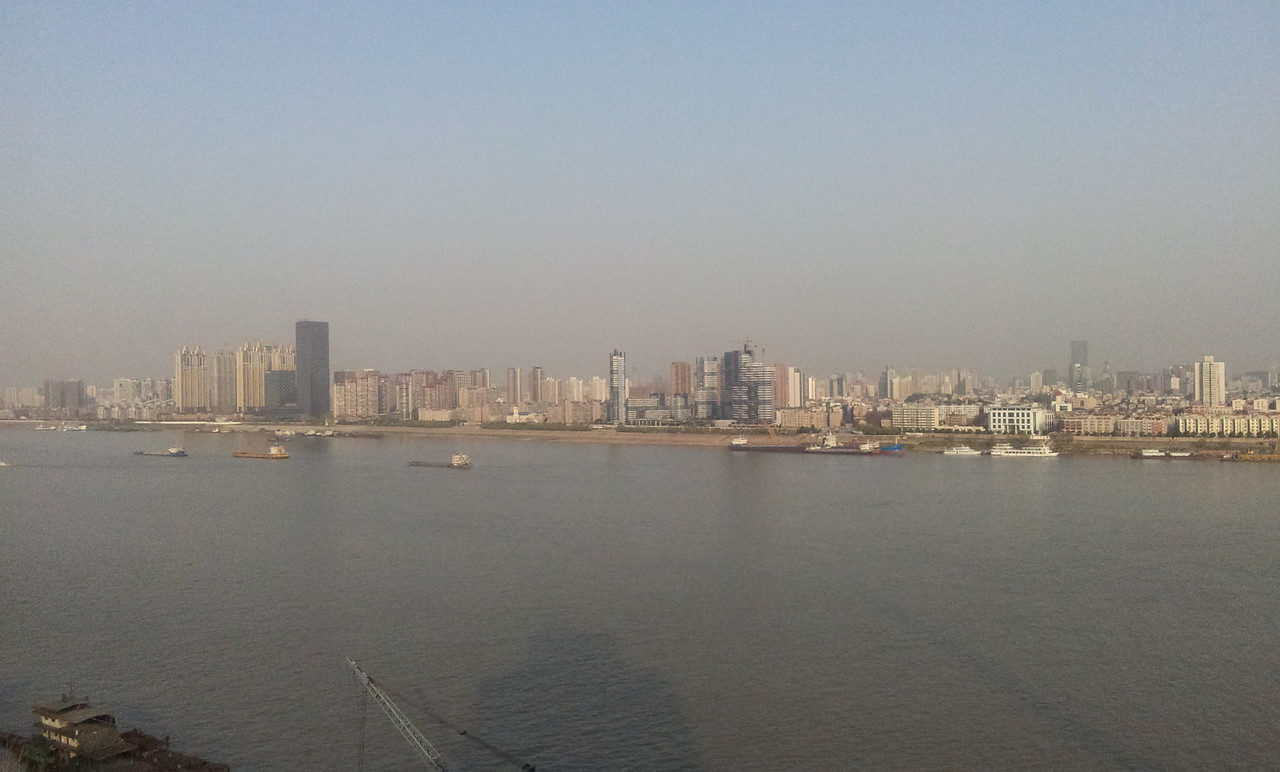View from the hotel on the other side of the Yangtze river