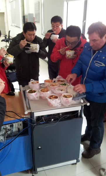 Lunch at DongFeng. We had it delivered since we worked during the wknd