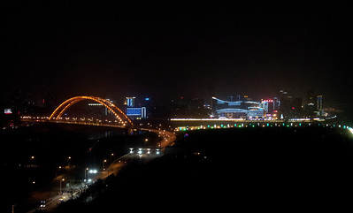 Wuhan by night, view from my room