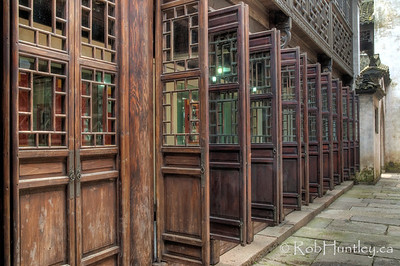 Open and closed doors - street scene in Wuzhen, China. HDR © Rob Huntley
