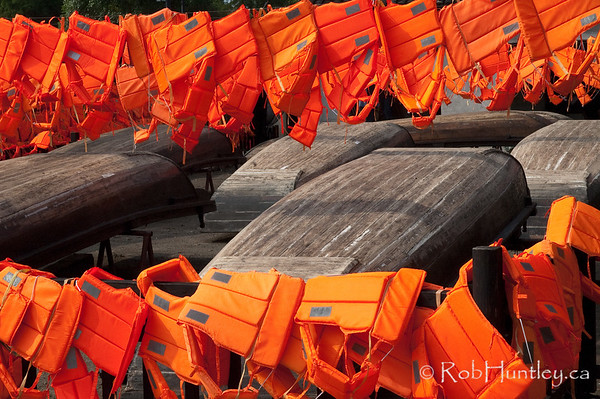 Lifejackets and overturned boats. Wuzhen, China.