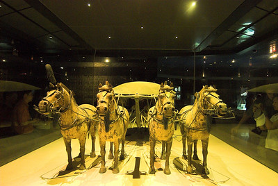 Miniature horses that were excavated nearby (not in either of the main tombs).