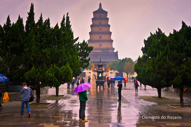 Big Wild Goose Pagoda in Xian, China