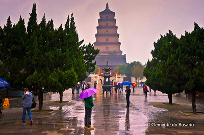 Big Wild Goose Pagoda in Xian, China
