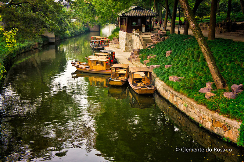 Paddle Boats in Tiger Hill Garden, Suzhou, China