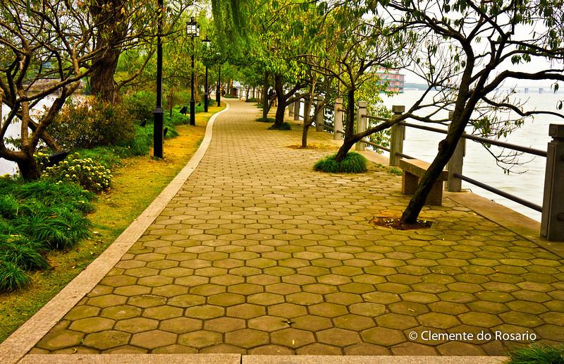 Linyuan Gardens along Lihu Lake in Wuxi, China
