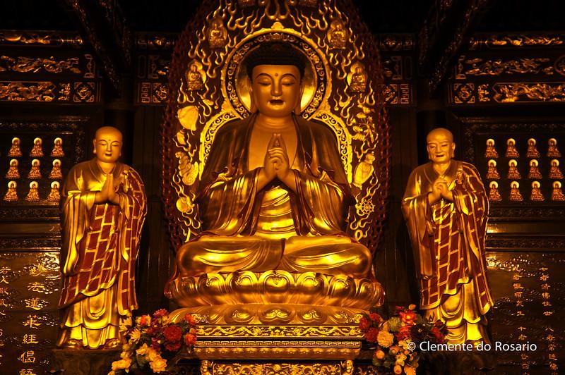 Great Hall of Budha in Da Ci'en Temple. Xian