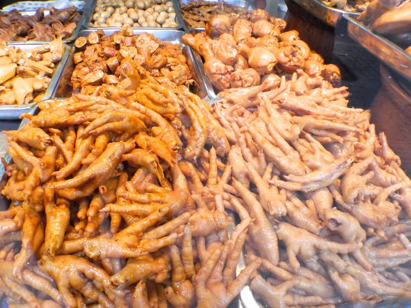 Fried chicken's feet