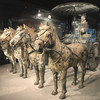 Full size horses & charioteer. All found locally guarding the tomb of Ch'in, first emperor