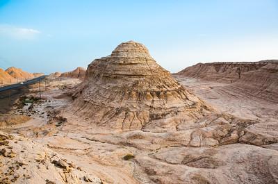 Natural pyramid (Yadan) landscape near Kuche