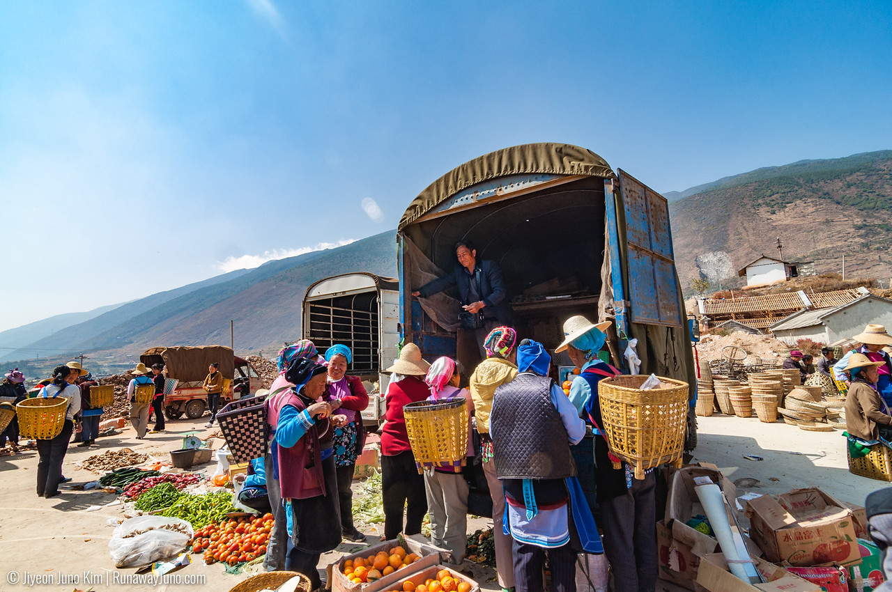 Hustle and bustle in rural Yunan, China