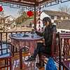 Lunchtime in Zhouzhuang, China when all bridges was too crowded for photographing.