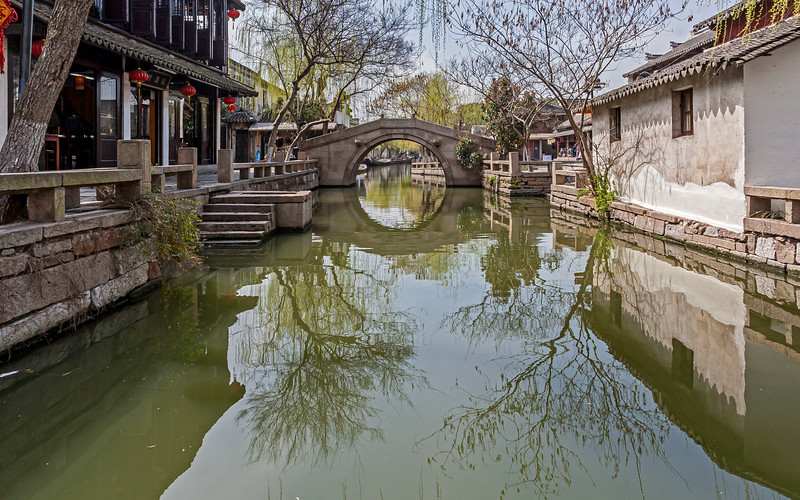Went by a boat in Zhouzhuang, China