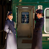 The friendly carriage attendants on my train from China to Mongolia.