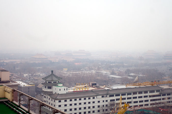 View of the Forbidden City from my hotel room in Beijing