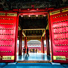 Beautiful Doors framing the visitors to the Forbidden City.