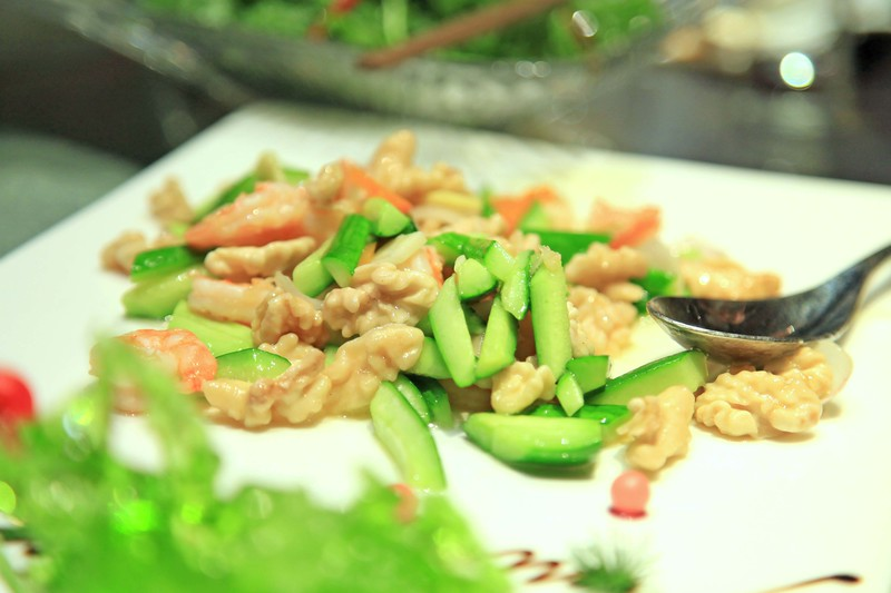 Stir fried chicken with cucumber - Chengdu