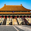 Another view of the temple in the Forbidden City with the lines of visitors