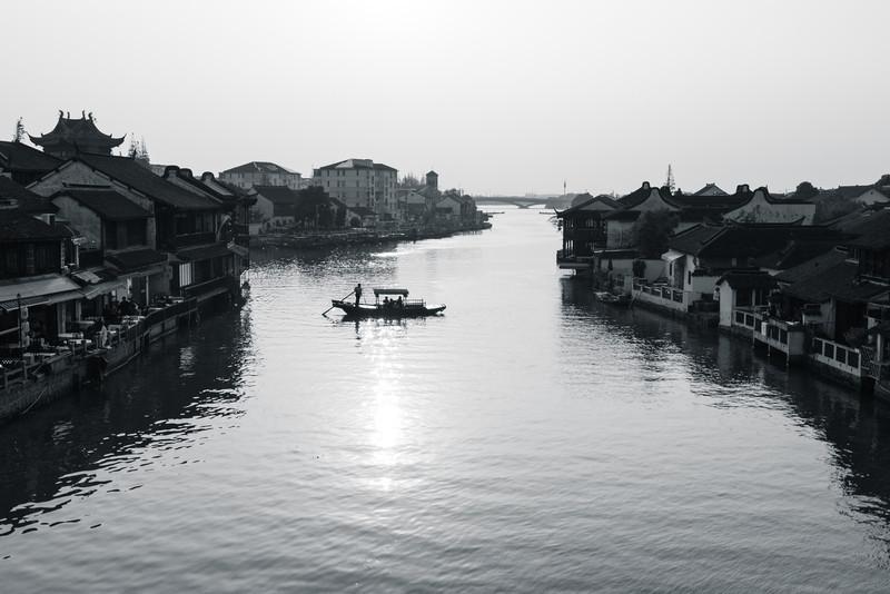 The heritage water town of Zhujiajiao near Shanghai China.