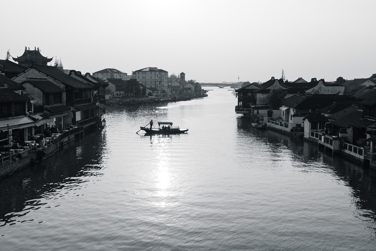 The heritage water town of Zhujiajiao near Shanghai China.
