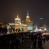 The grand old promenade of The Bund in Shanghai, lined with buildings from Shanhai's earlier glory days.