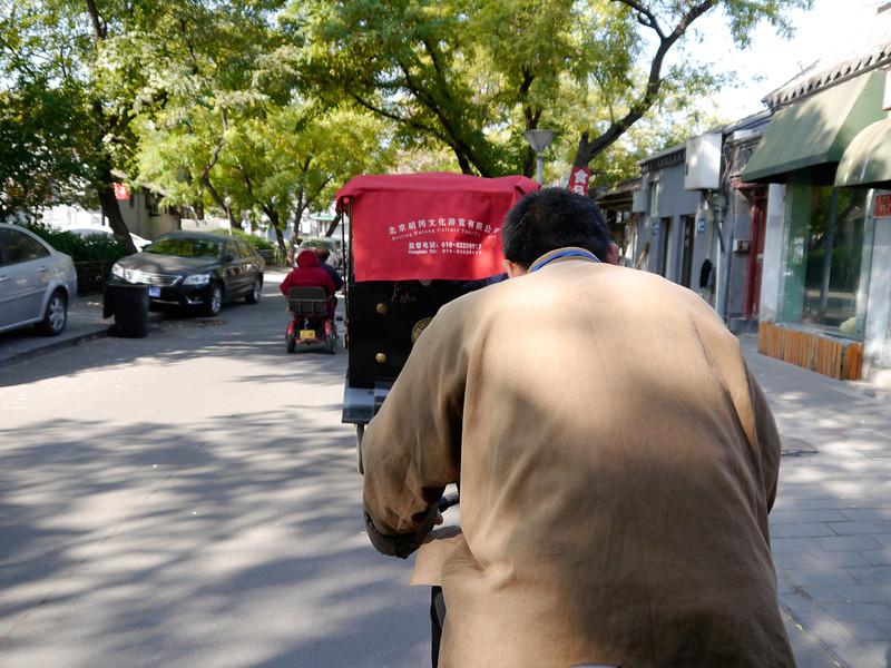 Beijing. Back on the rickshaw convoy.