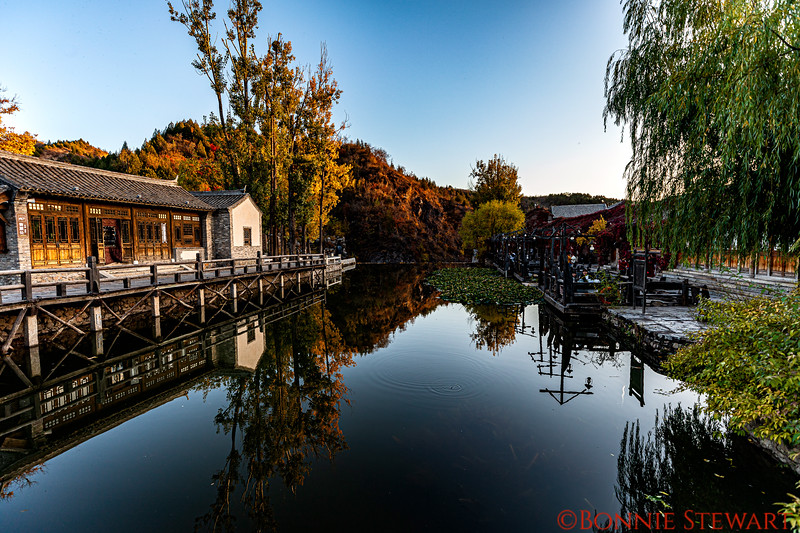 Reflections in the water in the Gubei Water Town