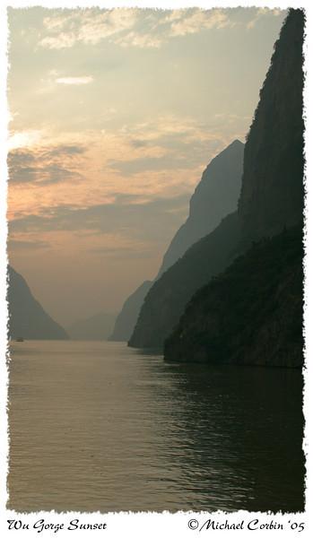 Wu Gorge Sunset