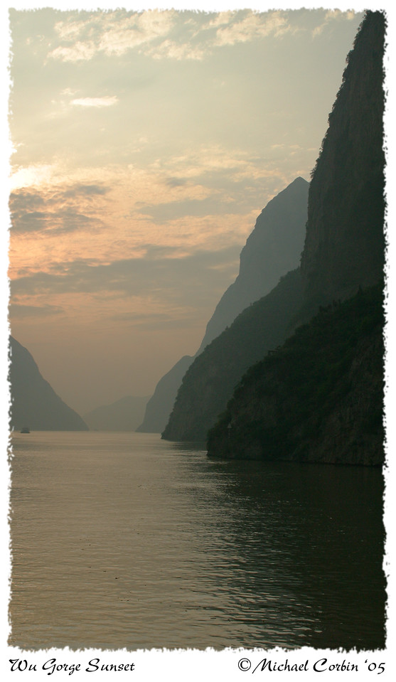 Wu Gorge Sunset